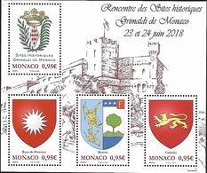 """Monaco 2018 - Yv N° F3146 ** - Bloc """"Sites Historiques Grimaldi De Monaco"""" (timbres 3146 à 3149) - Unused Stamps"""