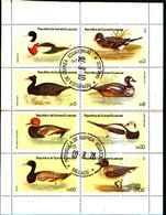 79201)   Guinea Ecuatorial Fauna Aves Patos Hojita Sin Dentar -FOGLIETTO USATO - Guinea Equatoriale
