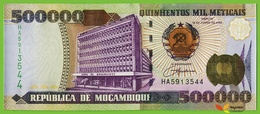 Voyo MOZAMBIQUE 500000 Meticais 2003 P142 B227a HA UNC Foundry Workers - Mozambique