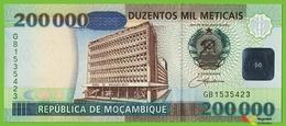 Voyo MOZAMBIQUE 200000 Meticais 2003 P141 B226a GB UNC Dancers - Mozambique