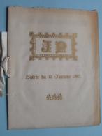Soirée Du 12 Janvier 1897 ( Première Partie / Deuxième Partie ( Le Caissier A. GILL / G. RICHARD ) ( Voir Photo ) ! - Programma's