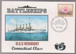 U.S.S VERMONT Connecticut Class BATTLESHIP Military Cover - Primo Giorno D'emissione (FDC)