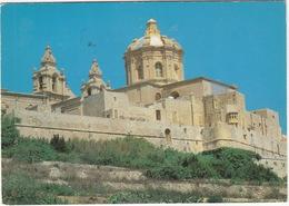 Mdina Bastions - Malta - ( 7c 'Posta-BL-AJRU' - AIRPLANE Stamp) - Malta