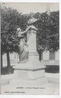 (RECTO / VERSO) LANGRES - LA STATUE D' AUGUSTE LAURENT - CPA VOYAGEE - Langres