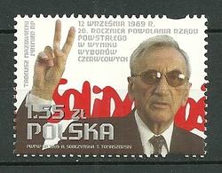 POLAND MNH** 4175 Tadeusz Mazowiecki Solidarnosc Doigts Signe Victoire Main - 1944-.... République