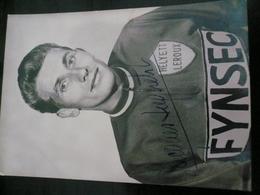 Ciclismo Cycling 1960 Ca Jacques Anquetil  Original Autograph Ballpen-penna A Biro  Pubblicità Italiana Fynsec - Cycling