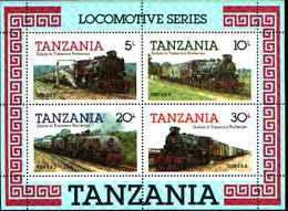 79208)   Tanzania 1985 Tanzania Ferroviarie Locomotive A Vapore -FOGLIETTO-MNH** - Tanzania (1964-...)