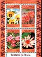 79209)   Tanzania Blocco 57 -1993 Fiori -SERIE COMPLETA IN FOGLIETTO-MNH** - Tanzania (1964-...)