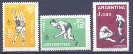 1959. Argentina, Sport Festival Panamerican, Mich.706/08,3v, Mint/** - Argentina