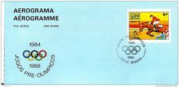 118 - 49 - Aérogramme Guine Bissau Jexu Olympqiues 1984 Oblit Spéciale - Summer 1984: Los Angeles