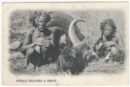 Somali Beaters With Bison - Somalia
