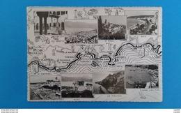 MAP ST RAPHAEL NICE CARTINA FRANCIA  CARTOLINA - Carte Geografiche