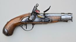 Pistolet à Silex De Gendarmerie Modèle An IX Manufacture Impériale De Maubeuge 1806 - Armi Da Collezione