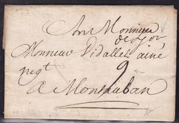 Rhone, De Lyon Manuscrit, Lanain N° 3a Sur LAC De 1742 - Indice 8, Signé Baudot - Poststempel (Briefe)