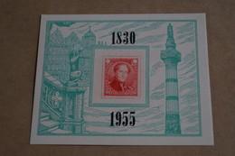 Superbe Feuillet Privé,en Hommage à La Dynastie,1830 - 1955 ,100 Fr. - Belgique