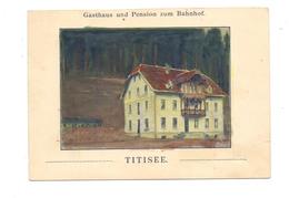 7820 TITISEE - NEUSTADT, Gasthaus Und Pension Zum Bahnhof, Rückseite Einer Rechnung, Druckstelle - Titisee-Neustadt