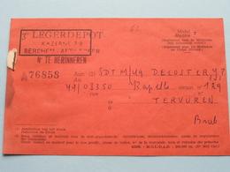 Avis De MUTATION - Advies Van Overplaatsing ( De Coster J.P. / Tervueren ) 1955 ( Zie Foto's ) ! - Documents