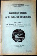 05 HAUTES ALPES REYNARD CONSIDERATIONS SUR LES COURS D'EAU DES HAUTES ALPES ENVOI QUEYRAS BRIANCONNAIS DURANCE 1933 - 1801-1900