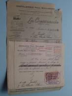 Distilleries PAUL BOULANGER - La Cressonnée PANTIN (Seine) 1926 ( Voir Photo Svp ) Fact. + Mandat ! - France