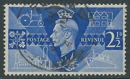 1946 GREAT BRITAIN USED VICTORY SG 491 2 1/2d ULTRAMARINE - Usati