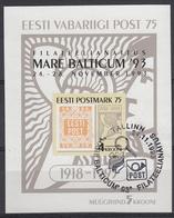 ESTLAND - Michel - 1993 - BL 6 - Gest/Obl/Us - Estonie