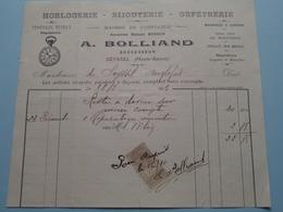 A. BOLLIAND (Ancien Bosson) à SEYSSEL (Haute-Savoie) 1913 Horlogerie - Bijouterie - Orfèvrerie ( Voir Photo Svp ) ! - France