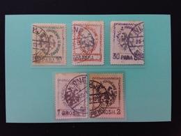 ALBANIA 1913 - 1° Anniversario Indipendenza Nn. 24/28 Timbrati (macchie Di Ruggine) + Spese Postali - Albania