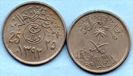 (r65)  ARABIE SAOUDITE 25  HALALA 1392  Km#48 - Saudi Arabia