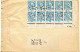 BLOC DE MERCURE AVEC COIN DATE SUR ENVELOPPE H THIAUDE ADRESSE A MONACO TARIF IMPRIME - 1921-1960: Periodo Moderno