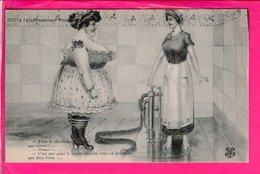 Cpa Carte Postale Ancienne  - Humour A L Etablissement Thermal - Humour
