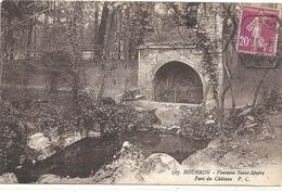 BOURRON . FONTAINE SAINT-SEVERE . PARC DU CHATEAU . AFFR LE 23-8-1935 SUR RECTO - France