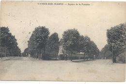 VAIRES-SUR-MARNE . SQUARE DE LA FONTAINE . AFFR AU VERSO LE 13-6-1924 . 2 SCANES - Vaires Sur Marne
