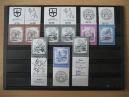 Österreich- Allongenmarken Mit Motiven Aus Wels, Ebensee, Langenlois Und Capex 87 - Blocks & Sheetlets & Panes