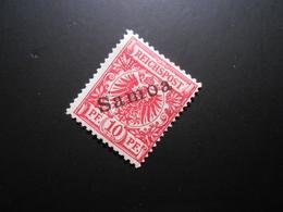 D.R.3  10Pf*/MLH  Deutsche Kolonien (Samoa)  1900   Mi 11,00 € - Geprüft Jaeschke - Colony: Samoa