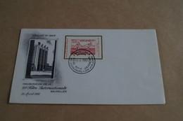 Heysel 1950,timbre Sur Enveloppe,25 Iem Foire Bruxelles 21/04/1951,pour Collection - ....-1951
