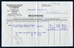 3190 - Erfurt - Heimann & Sachs Ledergroßhandel - Rechnung - Deutschland