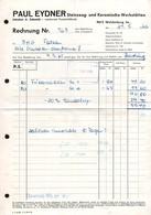 B4869 - Waldenburg - Paul Eydner - Steinzeug Keramik - Rechnung - Deutschland