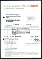 B4870 - Waldenburg - LPG Bauorganisation Eintracht - Rechnung - Beton Sand - Deutschland