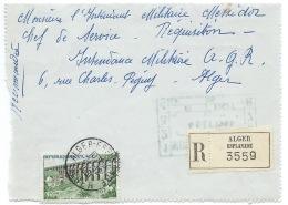 ENVELOPPE RECOMMANDEE / ALGER ESPLANADE 1961 / POSTE AUX ARMEES AU VERSO - Algeria (1924-1962)