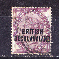 Bechuanaland 1892 1 P.  Violet Usato - Bechuanaland (...-1966)