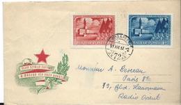Lettre De Hongrie 11/10/ 1951 Pour La FRANCE -  Commémoration à Staline - Feuillets Souvenir