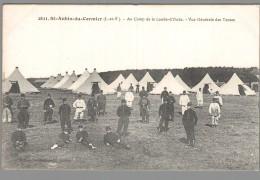 CPA 35 - Saint Aubin Du Cormier - Au Camp De La Lande D'Ouée - Vue Générale Des Tentes - France