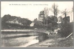 CPA 35 - Saint Aubin Du Cormier - Le Vieux Château Et L'Etang - France