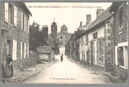 CPA 35 - Saint Aubin Du Cormier - La Rue De La Garenne Et L'Eglise - France