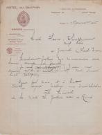 77 465 NANGIS SEINE MARNE 1936 HOTEL DU DAUPHIN Proprietaire L. CHARPENTIER Location Automobiles A THUILLIER - 1900 – 1949