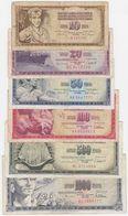 Yugoslavia SET - 10 20 50 100 500 1000 Dinara 1968 1986 - Fine - Jugoslavia