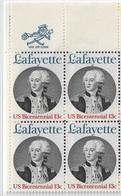 US 1977 Marquis De Lafayette Sc 1716 Block,VF MNH**OG - Unused Stamps