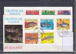 Surinam Michel Cat.No. FDC 827/834 Fish - Surinam