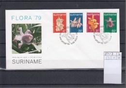 Surinam Michel Cat.No. FDC 854/857 Orchids - Surinam