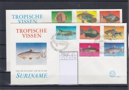 Surinam Michel Cat.No. FDC 910/917 Fish - Surinam